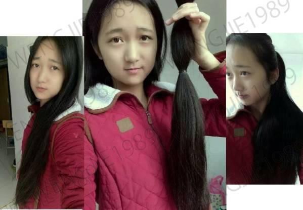 髪束 人毛 髪の毛 ウィッグ エクステ 送料込! チャイナ学生