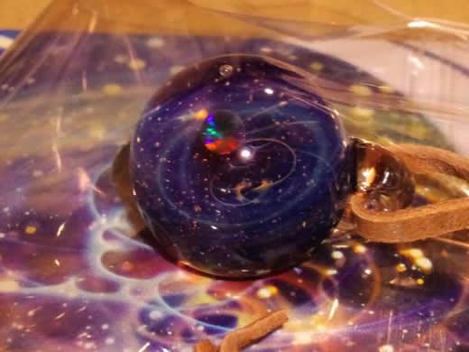 プラスアルファ 宇宙ガラス +α ブラックオパール 未開封 赤系