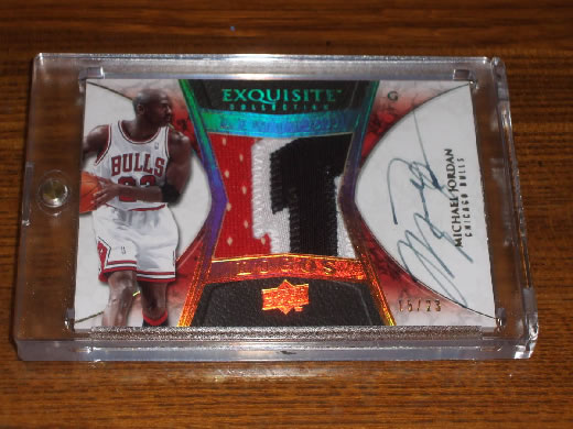UPPER DECK 2008 09 EXQUISITE COLLECTION MICHAEL JORDAN LIMITED LOGOS PATCH AUTO