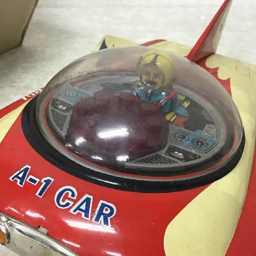 破損 エーワン/A-1 ブリキ スペースカー / 当時物 日本製