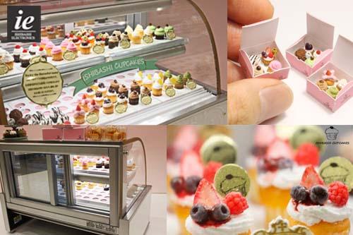 ドールハウス★☆ミニチュア カップケーキ店のショーケース B