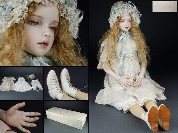 【宇】創作人形 陽月作 ビスクドール 球体関節人形 IB151