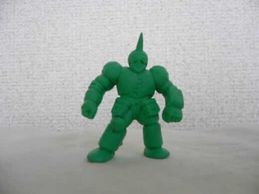 キン肉マン キン消し パチ物 ユニコーンマスク(?) 当時物 緑色