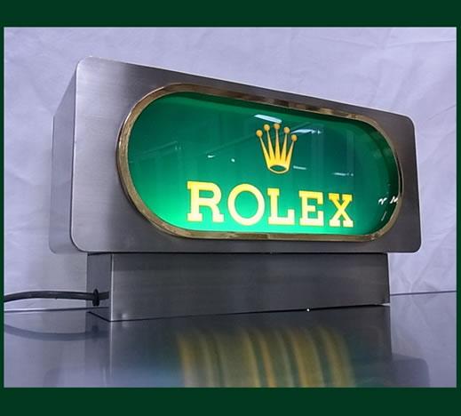 □超レア!ロレックス ROLEX 販促用 非売品 電飾看板 ライト 照明