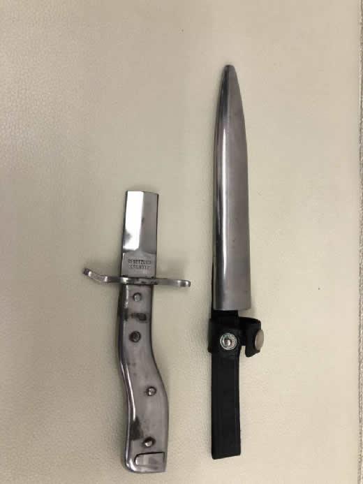 ◆ 銃剣 ◆ GESETZLICH GESCHUTZT ミリタリー ミリタリーグッズ 軍装品 ナイフ 刀 武器 《 カット処理済品》 合法カット品 �