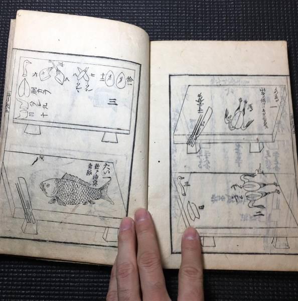 江戸料理集!6巻揃!延宝2年! 検魚和食八百善和本写本献立庖丁
