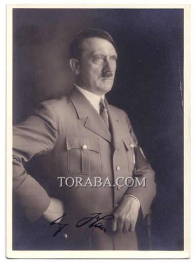 ナチス ヒトラー  サイン入り写真