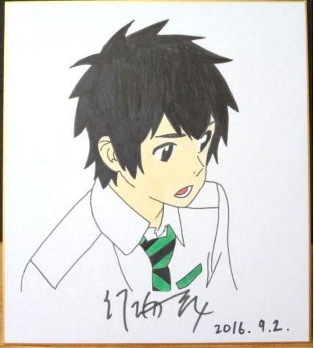 ◆君の名は。 立花瀧◆ 新海誠 直筆サイン入り 色紙 激レア