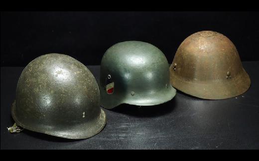 【治】時代軍用装備品 ヘルメット三点☆戦争 武具 ミリタリー 軍用 HK92