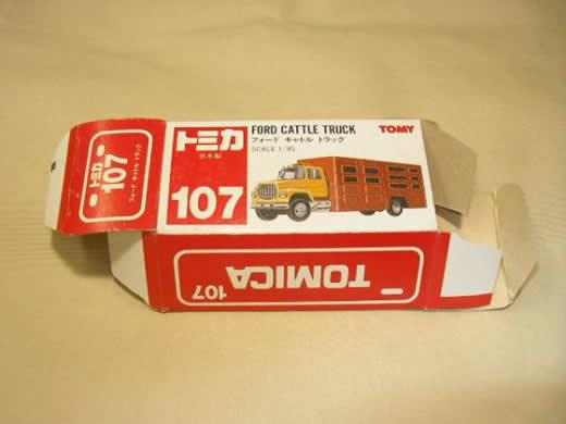 トミカ空箱/赤箱 フォード キャトル トラック NO.107日本製 絶版