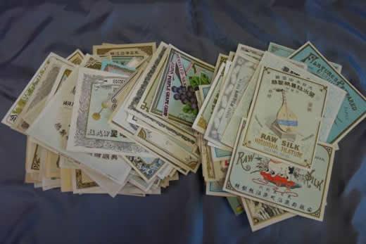 ★ 明治時代 製紙会社 商標ラベル 258枚 石版画