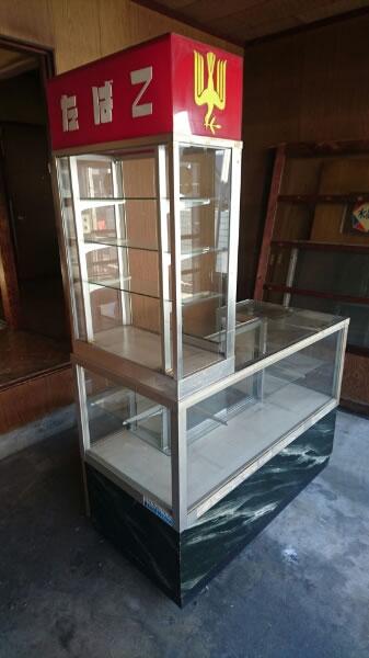 たばこ屋 アンティーク ガラスショーケース 昭和レトロ 当時物