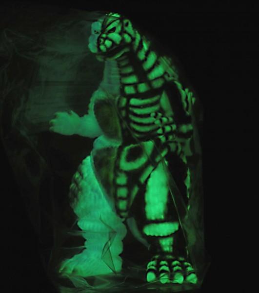 【限定1個/カスタムペイント】DPH-SP ゴジラ デスゴジ 珍色スカル塗装スケルトン マーミット怪獣天国 ソフビ怪獣 検) ブルマァク タイプ