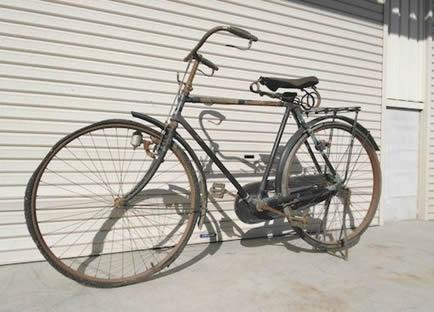 60'S/珍品/Wネーム/BS&Triumph/トライアンフ自転車/ベース車