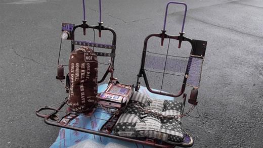 展示品 スチームパンク ダメージ ラットスタイル カフェ インテリア ガレージ 喫茶 ソファー リアシート 屋外 室内