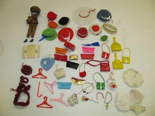 バービー人形の帽子・カバン類:多数の出品