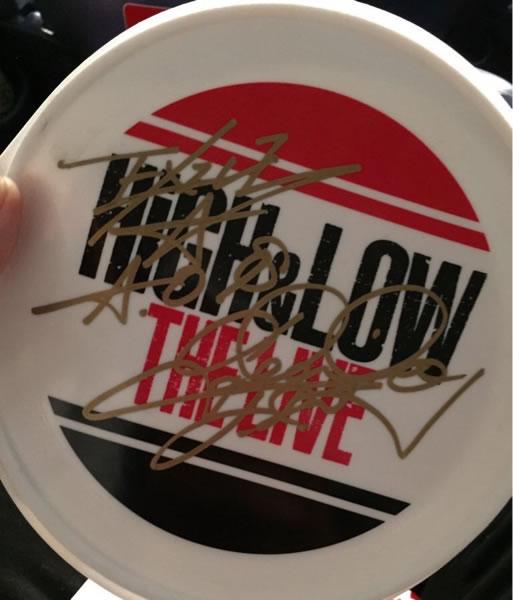 22日のHIGH&LOWのライブで取ったのTAKAHIRO フリスビー です。