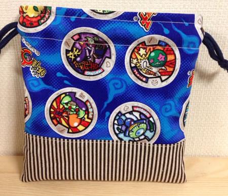 ハンドメイド☆妖怪ウォッチ 巾着 給食袋�
