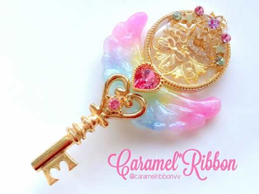 Caramel*Ribbon*魔法の鍵ネックレス*キャラメルリボン