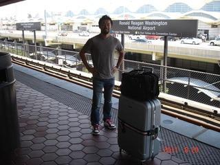DCの空港到着して地下鉄