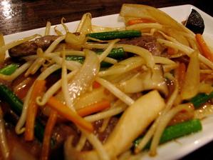 081016ハラミの野菜炒め