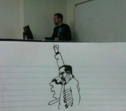 授業中に先生の落書き (8)