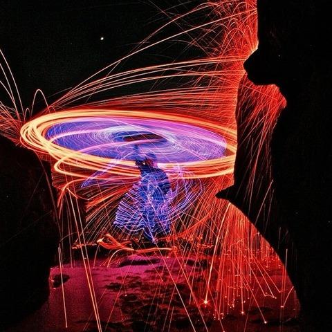 スチールウールが織りなす芸術 (6)