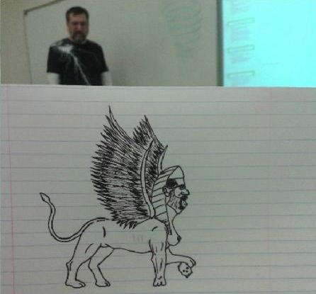 授業中に先生の落書き (3)