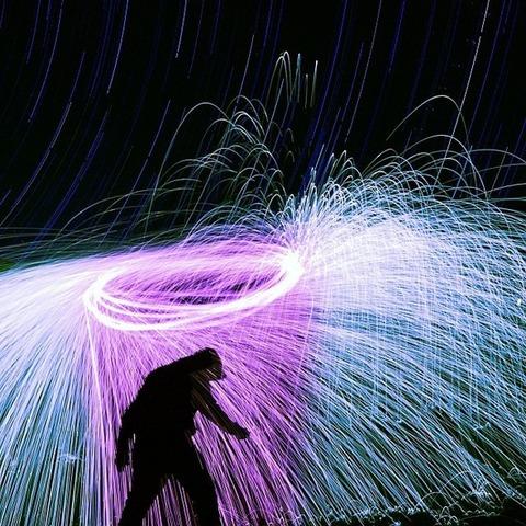 スチールウールが織りなす芸術 (2)