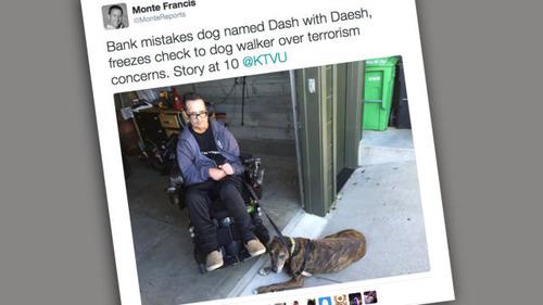 犬の名「ダッシュ」でテロリスト騒ぎ IS別名と勘違い