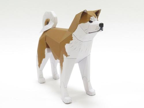 秋田県観光プロモーション「行け、行け、アキタ」のペーパークラフト秋田犬が可愛い