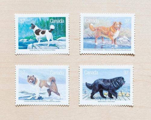 犬が描かれた切手の画像をひたすら貼ってくよ14