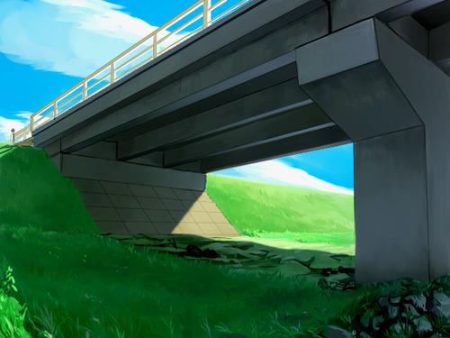 橋の下でリード繋がれた犬がいるんやが
