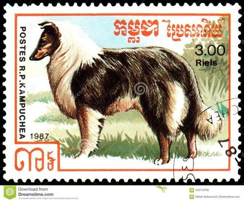 犬が描かれた切手の画像をひたすら貼ってくよ15