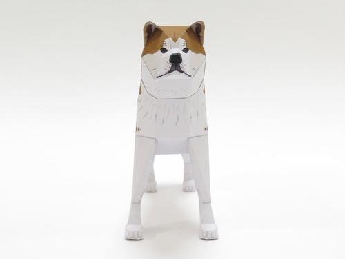 「行け、行け、アキタ」のペーパークラフト秋田犬2