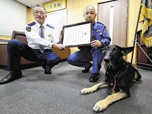 警察犬5分で不明者発見…スリッパのにおいから