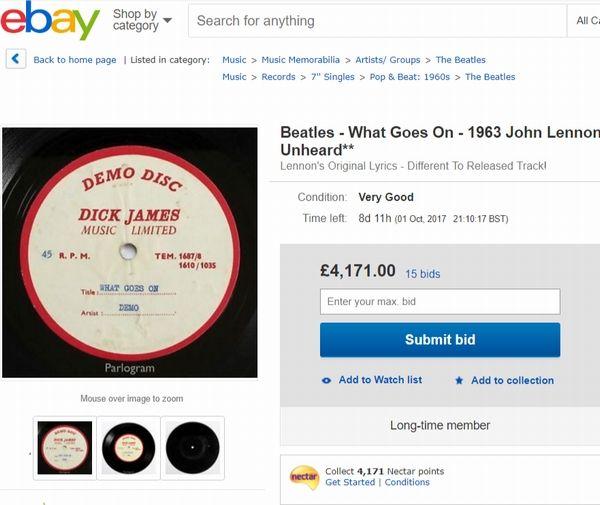 ビートルズの「What Goes On」の未発表デモ音源
