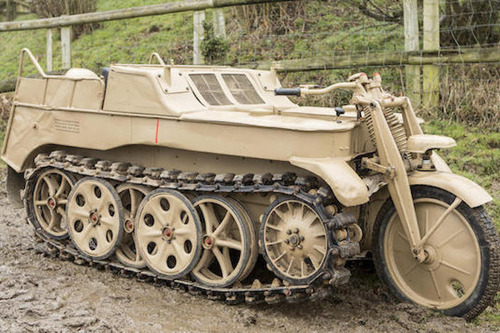 ナチスドイツ軍のバイク装甲車がオークションへ