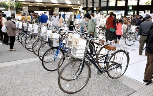 放置自転車の競売が人気2