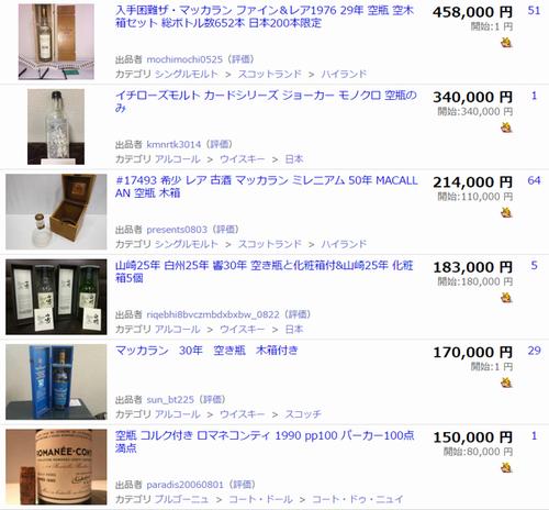 ヤフオクで「空瓶」の落札価格を検索した結果2
