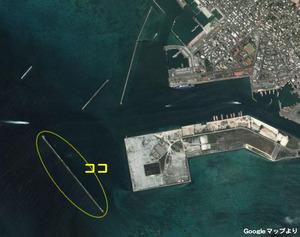 沖堤防地図