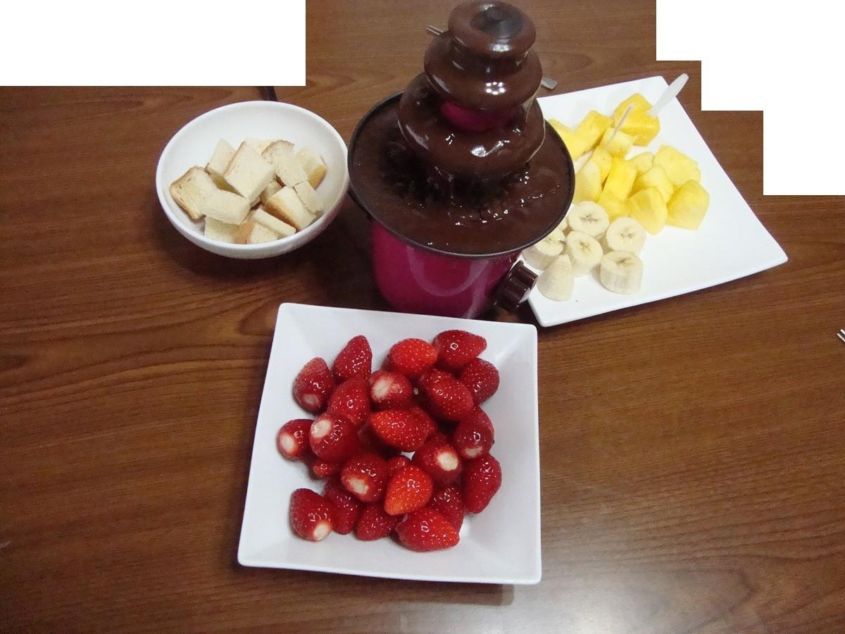 24,2,19家飯チョコレートフォンデュ編 (1) - コピー