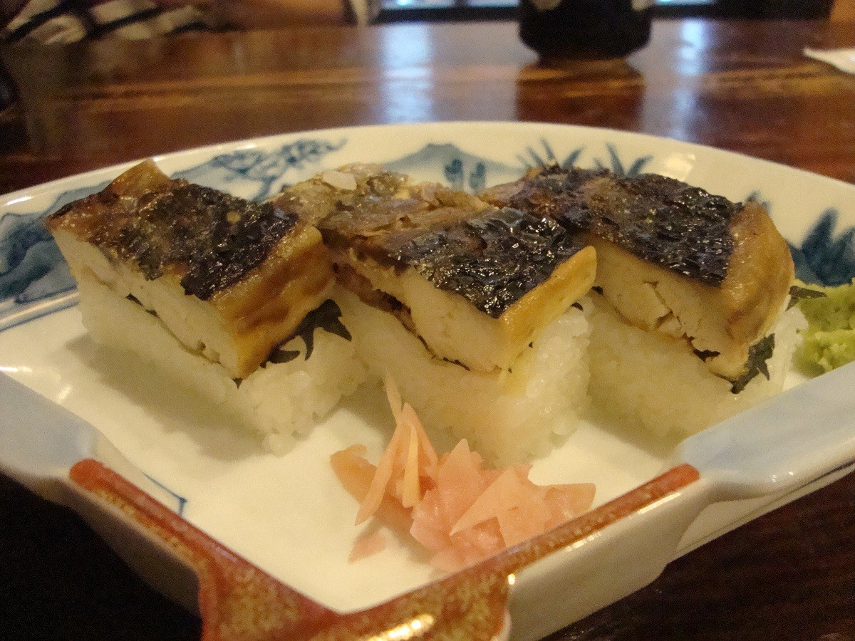 焼き鯖寿司3貫¥500 - コピー