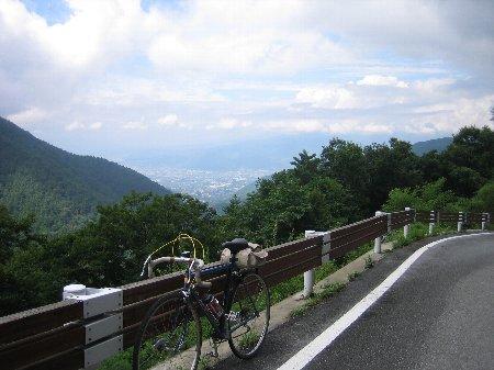 甲府盆地遠景