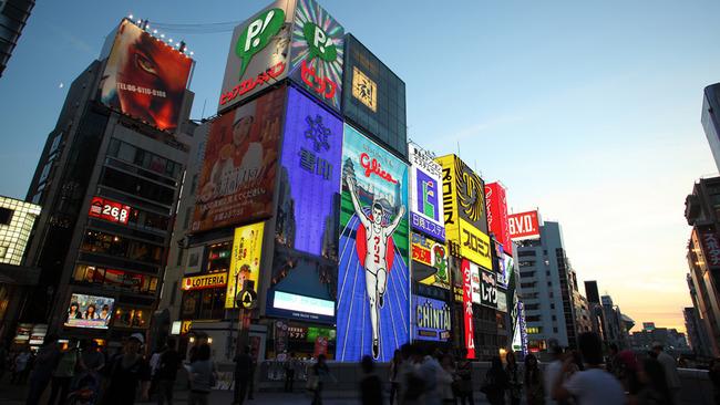 大阪の観光地で打線組んだ