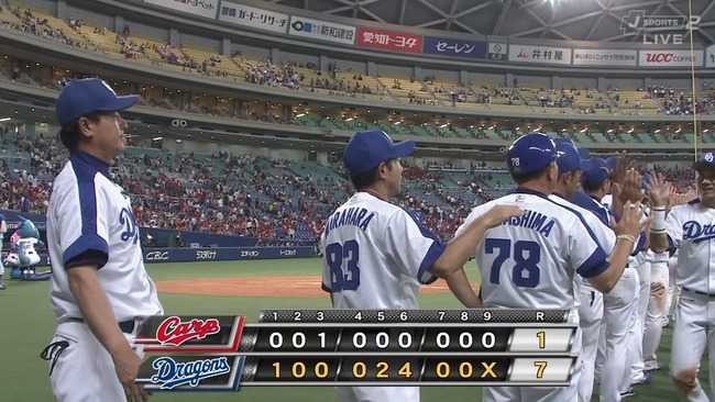 中日快勝、京田がプロ初の5安打3打点!下位の藤井、堂上、松井雅もマルチ!