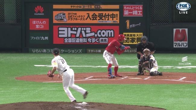 松坂大輔さん、広島打線相手にここまで6回を投げ被安打0無失点のノーヒットピッチング!!