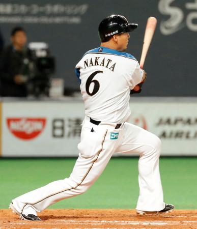 中田翔 .253 6本(リーグ3位) 19点(リーグ3位) OPS0.799