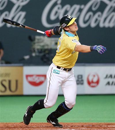 金子コーチ「外角を右方向にフライを打つ感じで打て」大田「はい!」カキーン