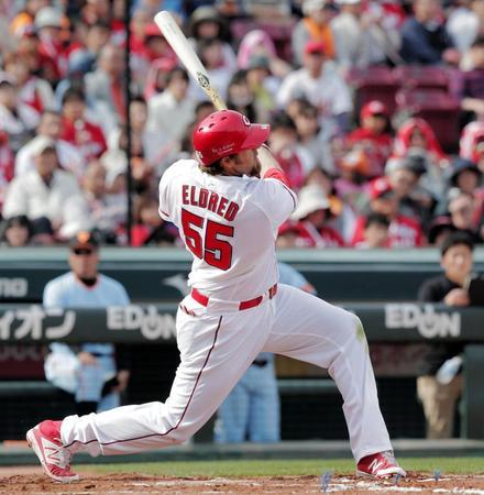 エルドレッド 打率.389 10試合 40打席 36打数 14安打 1本塁打 4四死球 出塁率0.450